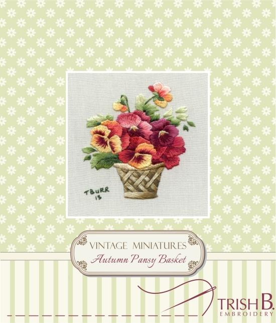 Miniature Autumn Pansy Basket