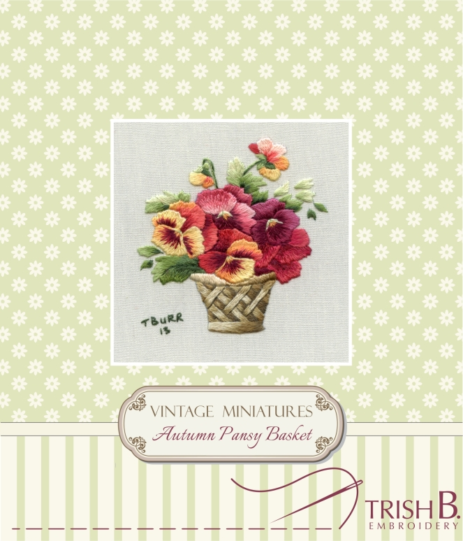 Miniature Autumn Pansy Basket