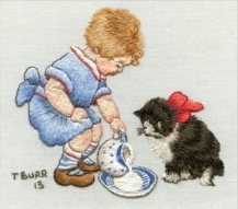 Saucer of milk for kitty