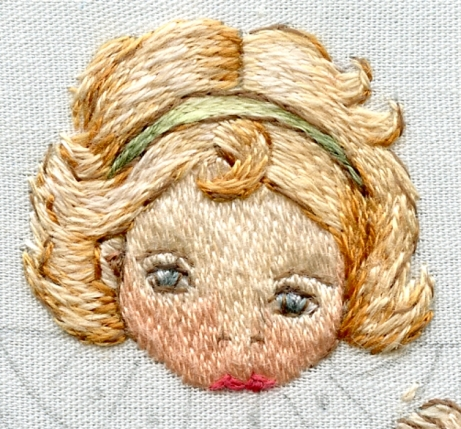 outlines in half strand sewing thread