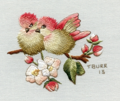 Finches & Apple Blossom