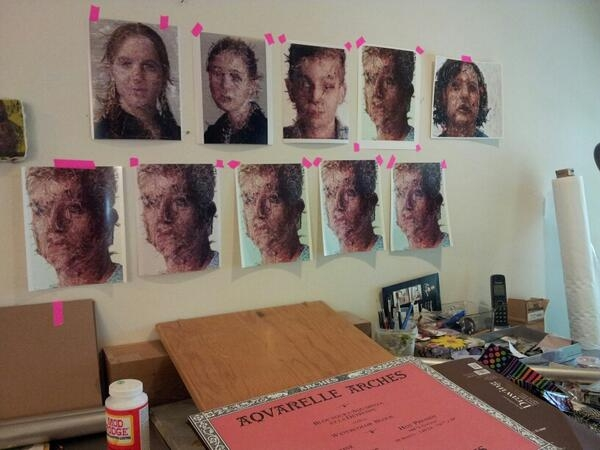 Inside Cayce's studio