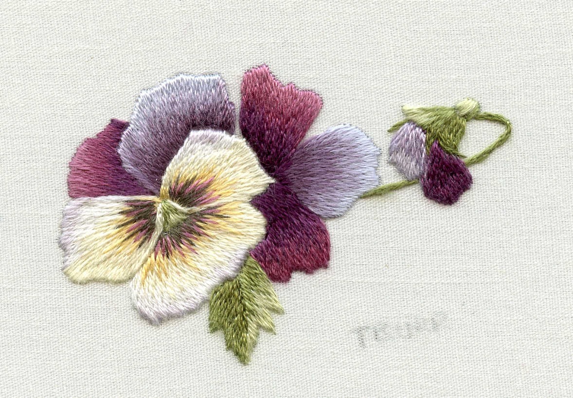 Free trish burr embroidery for Hand thread painting tutorial