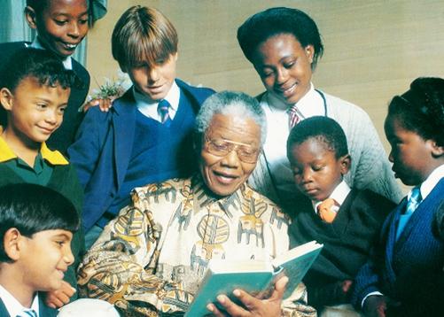 Madiba reading to children