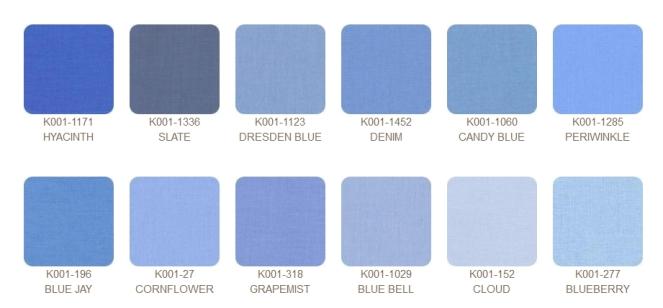 Kona cotton colours