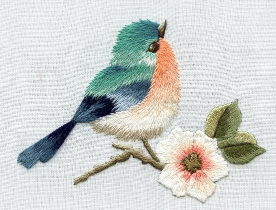 Complete lesson in needlepainting