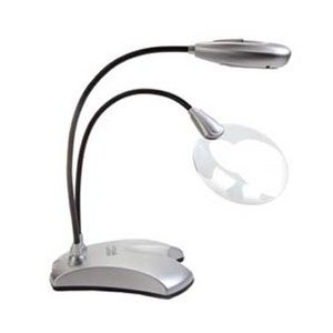 LED clip on magnifier