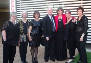 Tutors at Gala dinner left to right:  Hazel Blomkamp, Betsy Morgan, Julie Graue, Gary Clark, Trish, Margaret Light, Deborah Love.