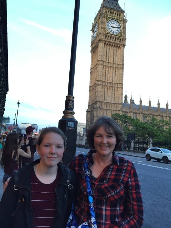 My youngest daughter and I in front of Big Ben Westminster