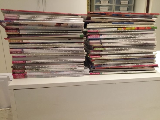 Some of my Inspirations magazine collection.