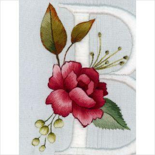 floral alphabet 9